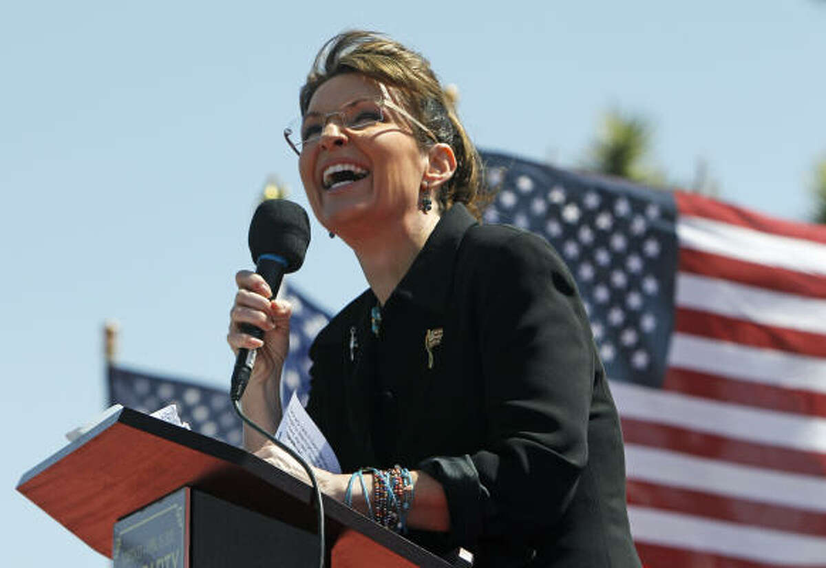 Sarah Palin speaks at the