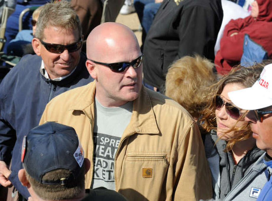 "Samuel Joseph ""Joe the Plumber"" Wurzelbacher  walks through the crowd at the Tea Party Express' ""Showdown in Searchlight"" rally. Photo: Ethan Miller, Getty Images"
