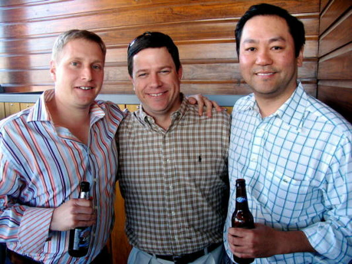 Eric Wormser, from left, Rob Raymond, and John Kim
