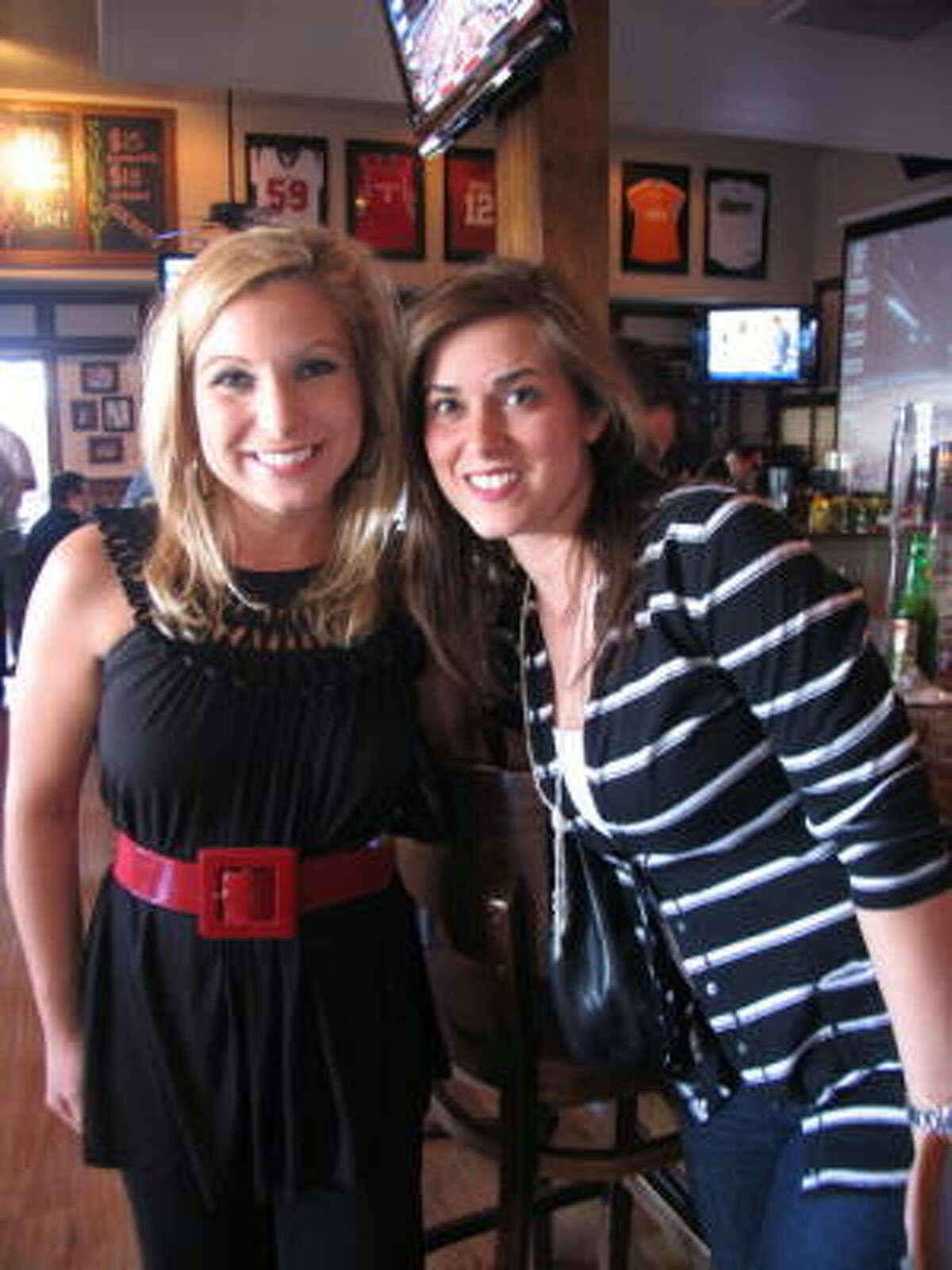 Alicia Mathis, left, and Laura Clenney