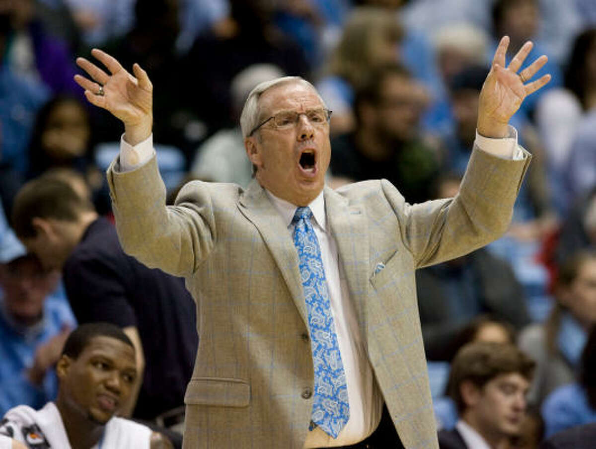 Roy Williams Schools: Kansas, North Carolina Years: 1990-2010 NCAA Tournament wins 55 Comment: Went from not giving a bleep about Carolina to leading Tar Heels to two national titles.