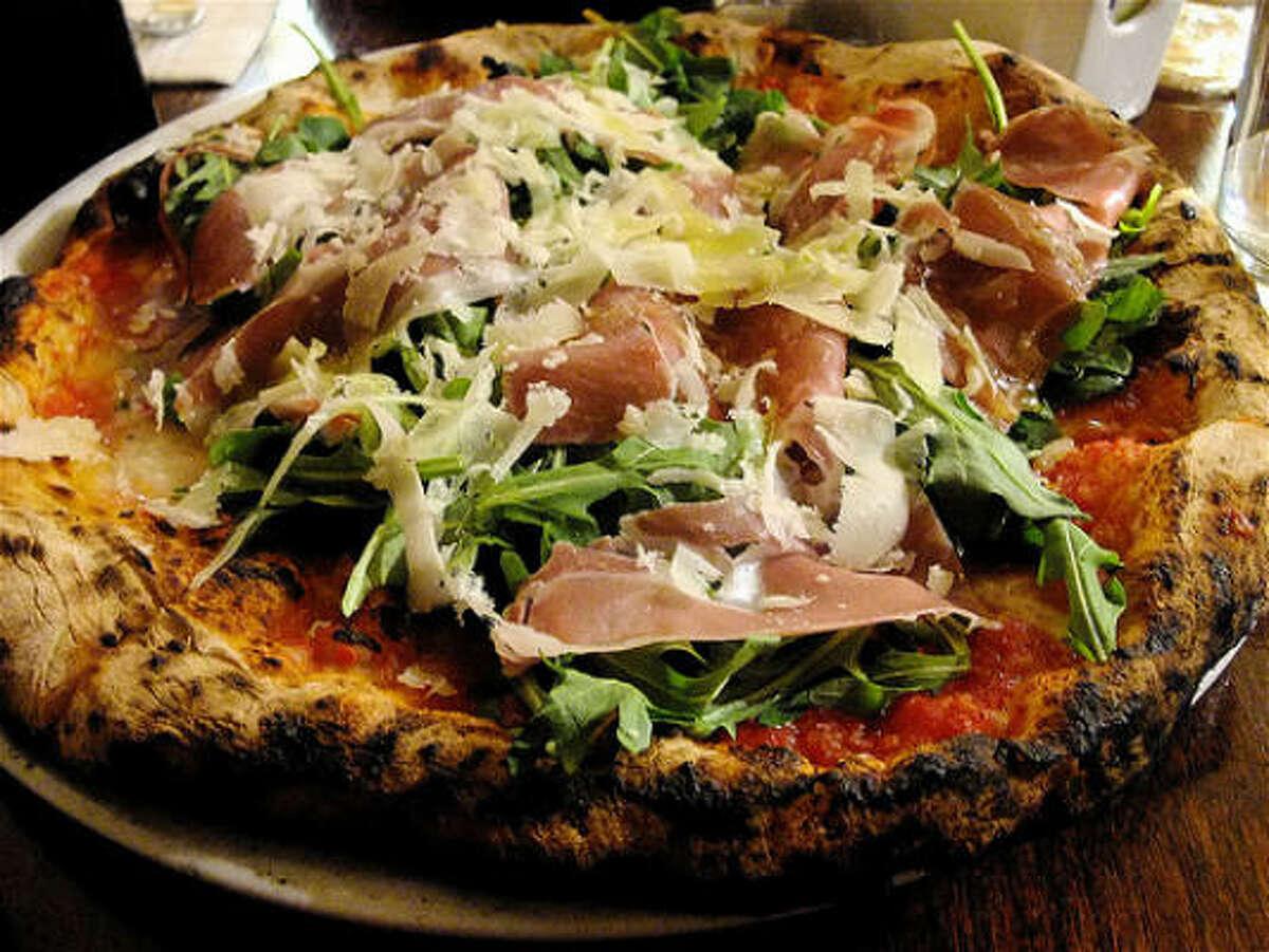 Keste Pizza with prosciutto, arugula & buffalo mozzarella, Keste