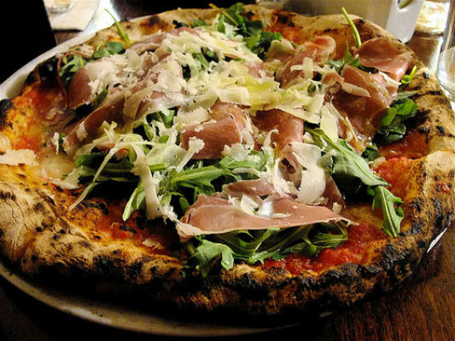 Keste Pizza with prosciutto, arugula & buffalo mozzarella, Keste Photo: Alison Cook, Chronicle