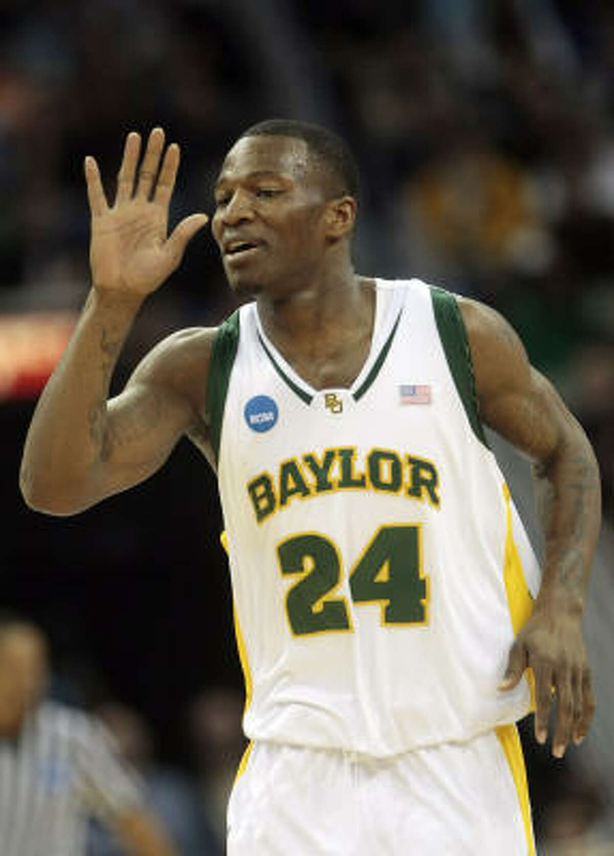 Baylor guard LaceDarius Dunn scored a game-high 26 points.