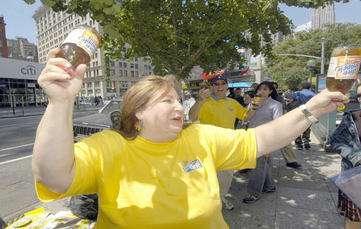 The Snapple Lady: Wendy Kaufman got her start by answering Snapple fan mail while she was employed by the company. Snapple was so impressed with her energy and humor that they made Kaufman the face of the company.