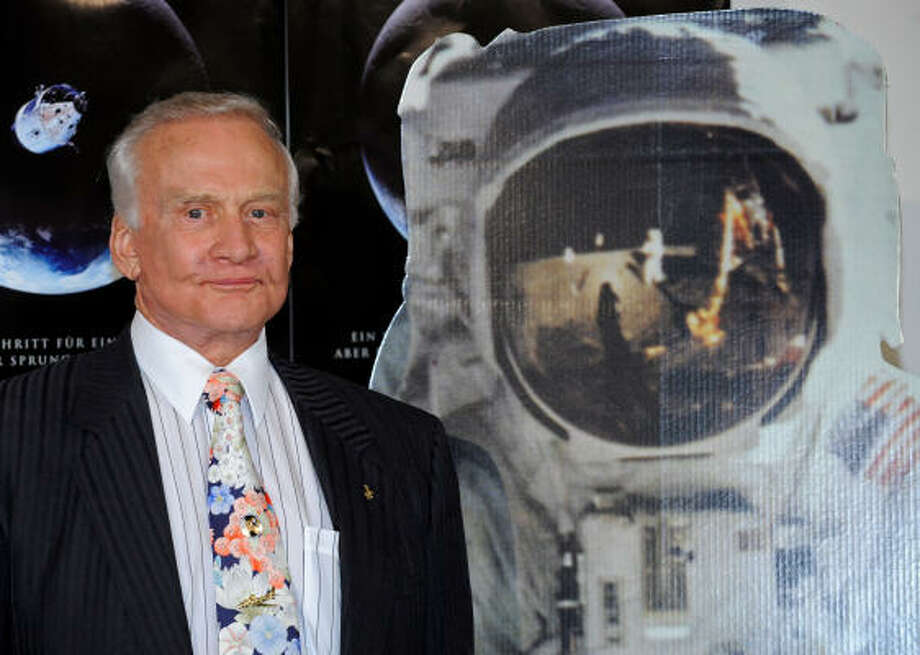 Buzz Aldrin: Mechanical engineer and former astronaut who was the second person to set foot on the Moon. Photo: LENNART PREISS, AFP/Getty Images