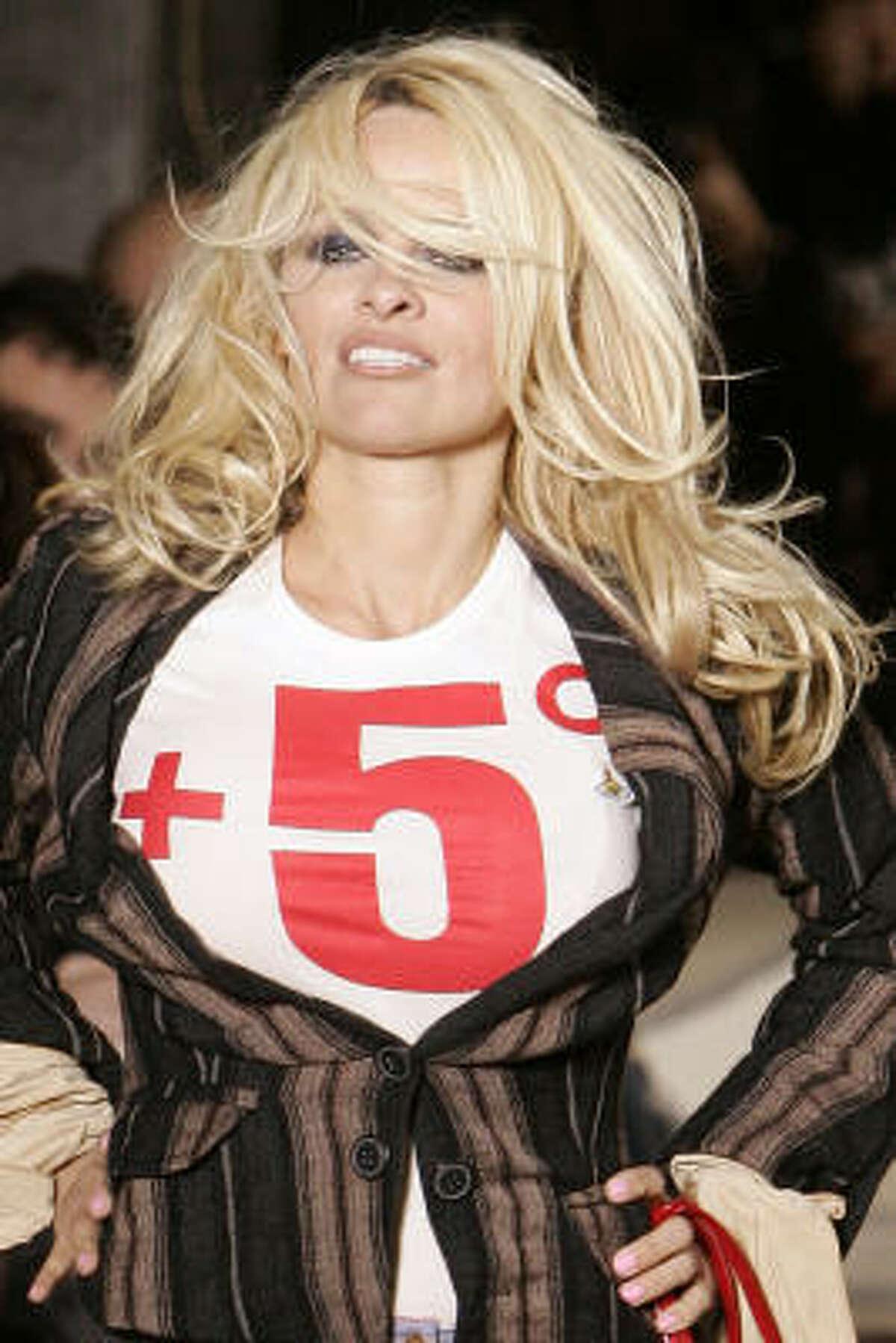 Pamela Anderson: Actress, PETA spokesperson.