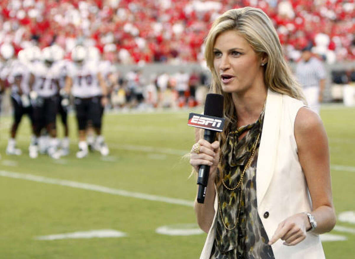 Erin Andrews: ESPN sportscaster.