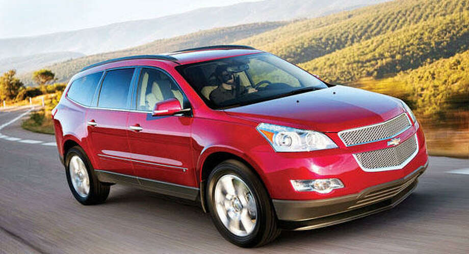 The 2010 Chevrolet Traverse crossover vehicle offers people-hauling and cargo-carrying capability typically found in larger SUVs. New for 2010 is a USB port that is included with premium radios. Located in the center console, it connects portable music devices to the vehicle's audio system and charges batteries of some hand-held items. The Traverse has a distinctive profile with a sleek, smooth and flowing design. The Traverse is offered in LS, LT and LTZ models, in both front-wheel-drive and all-wheel-drive configurations. Its 3.6-liter engine's direct-injection technology helps produce power similar to many V-8 engines and uses regular unleaded gasoline. It is rated at 288 horsepower and 270 lb.-ft. of torque. It's mated to a six speed automatic transmission. The Traverse can be configured for seven or eight adults. The third-row seat is capable of comfortably seating adults while simultaneously providing generous storage space behind it. Photo: GM
