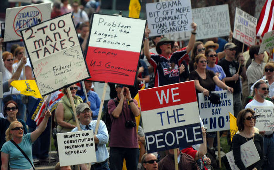 Protesters opposed to the health care bill gather outside the Capitol. Photo: Astrid Riecken, Getty Images