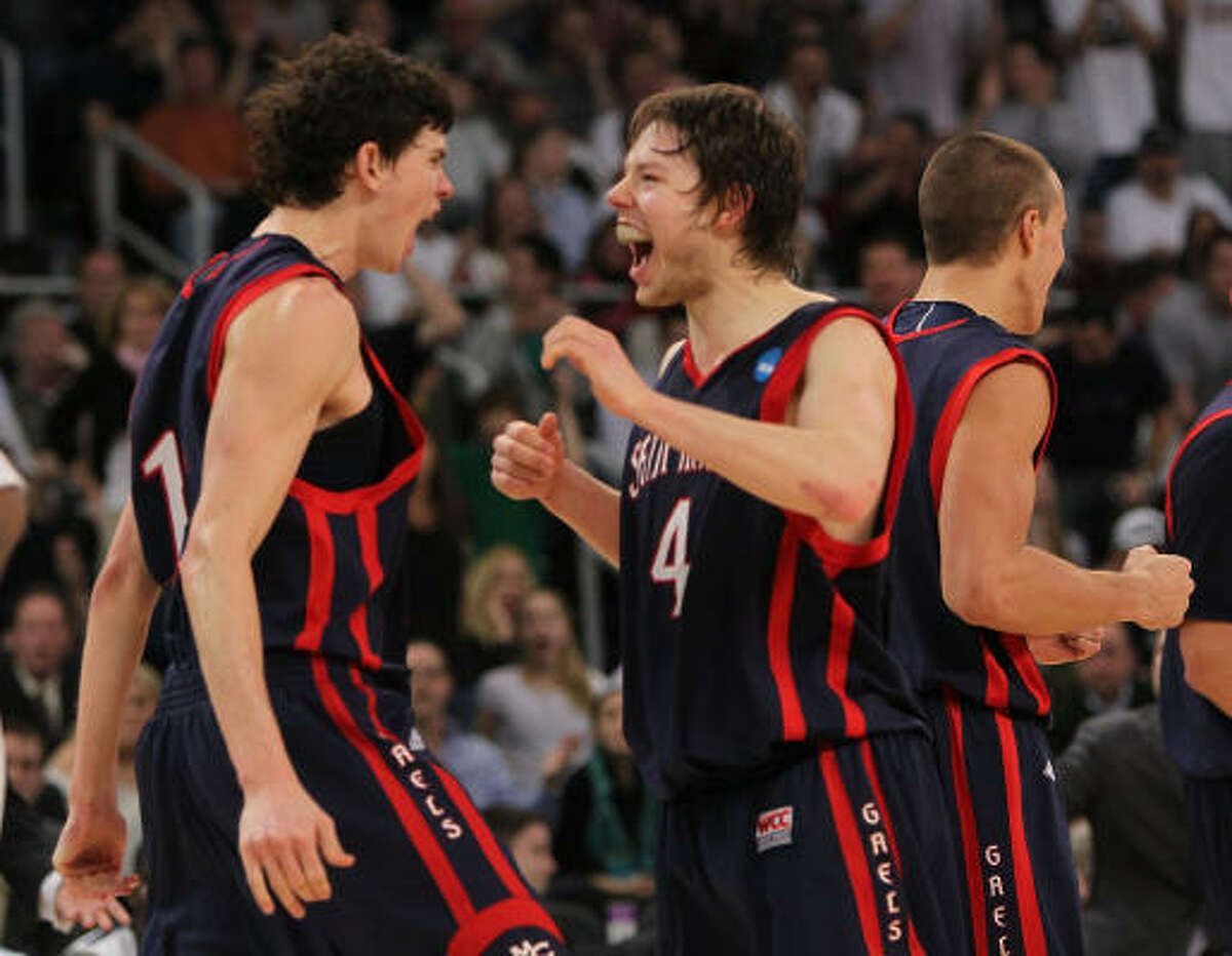 St. Mary's upset Richmond and then Villanova. The Gaels will face Baylor in the Sweet 16 at Reliant.