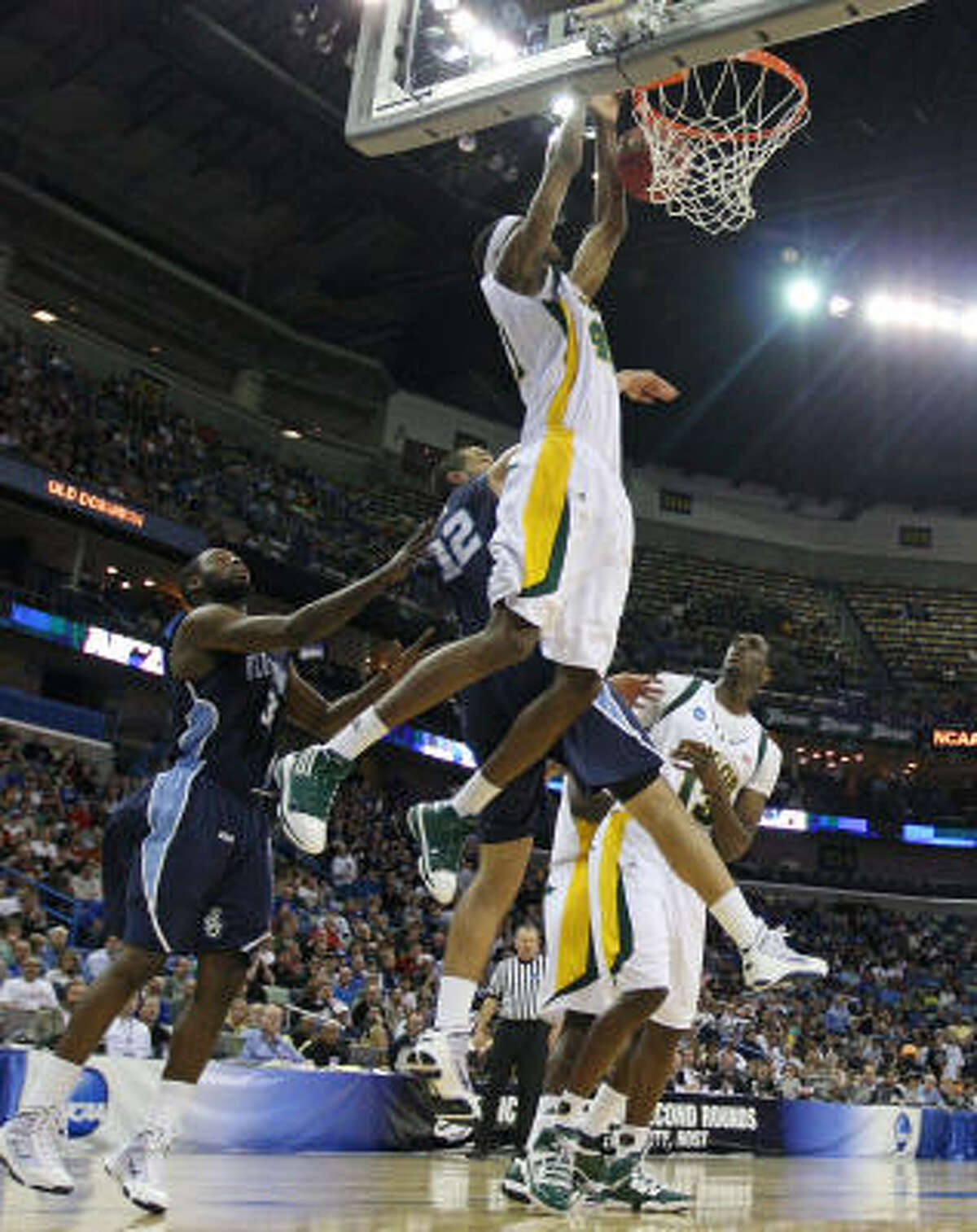 Baylor's Anthony Jones throws down a dunk.