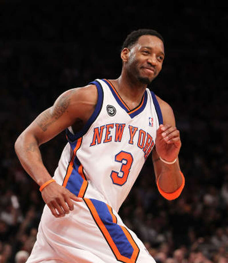 2010In his Feb. 20 debut with the Knicks, Tracy McGrady scored 26 points against Oklahoma City. Photo: Nick Laham, Getty Images