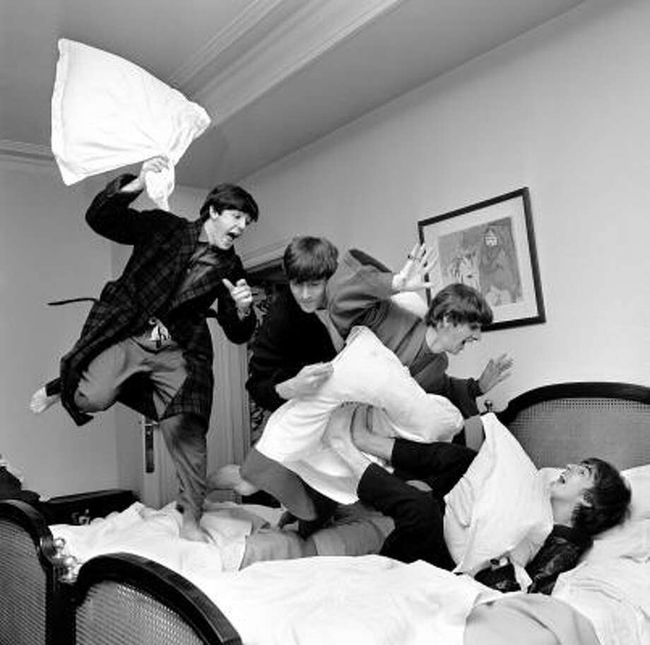 The Beatles: Some say they are the original teen heartthrobs. In their younger years, girls went crazy over them. Mobs of crazed teenagers would chase them after concerts just to get a little glimpse of the Fab Four. Photo: Harry Benson