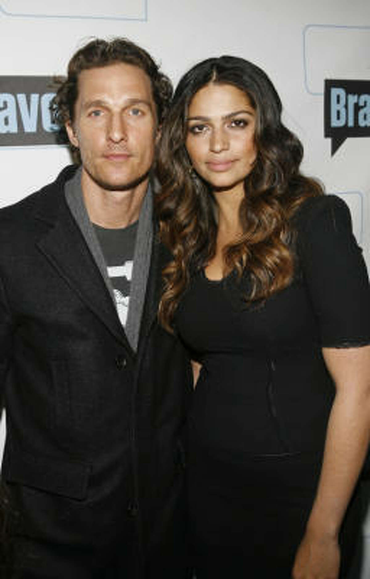 Recently, McConaughey had two children with girlfriend Camila Alves, host of Bravo's Shear Genius.