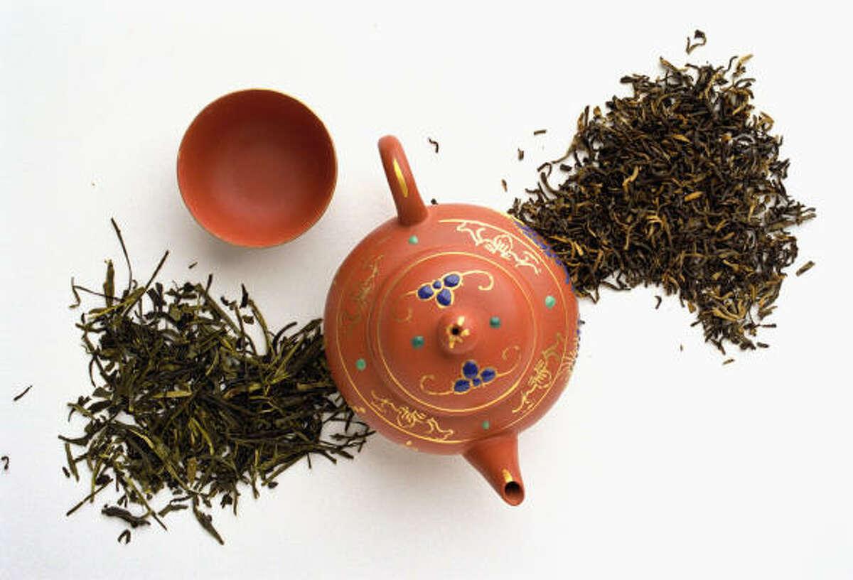 Green tea won't give you the jitters like coffee can, despite having caffeine.