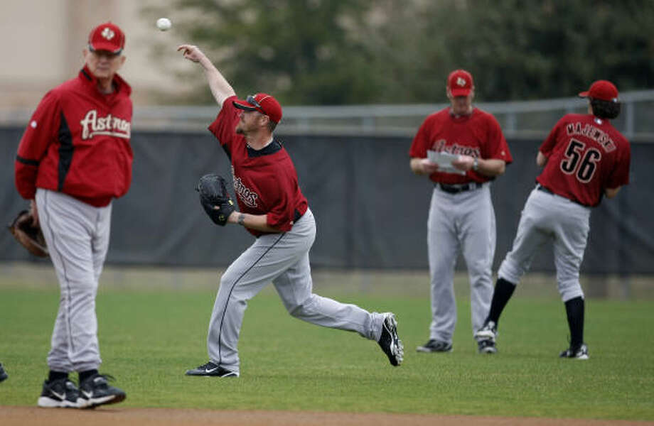 Sunday: Final split-squad games, could be followed by cuts. Photo: Julio Cortez, Chronicle