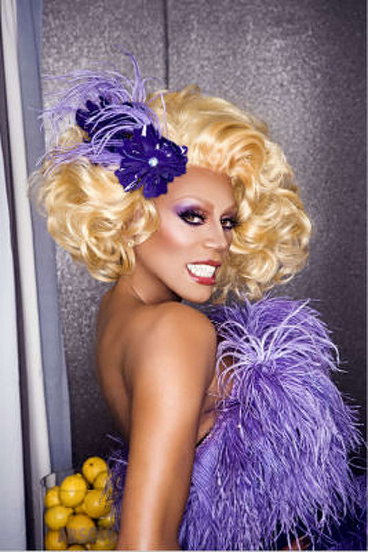 Celebrity drag queen RuPaul gets all dressed up for appearances and performances...