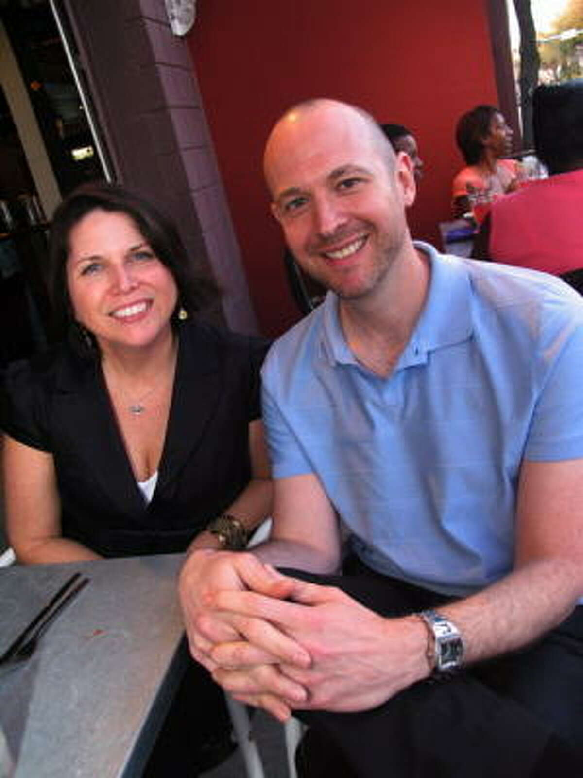 Michelle Mitchell, left, and Peter Stranges