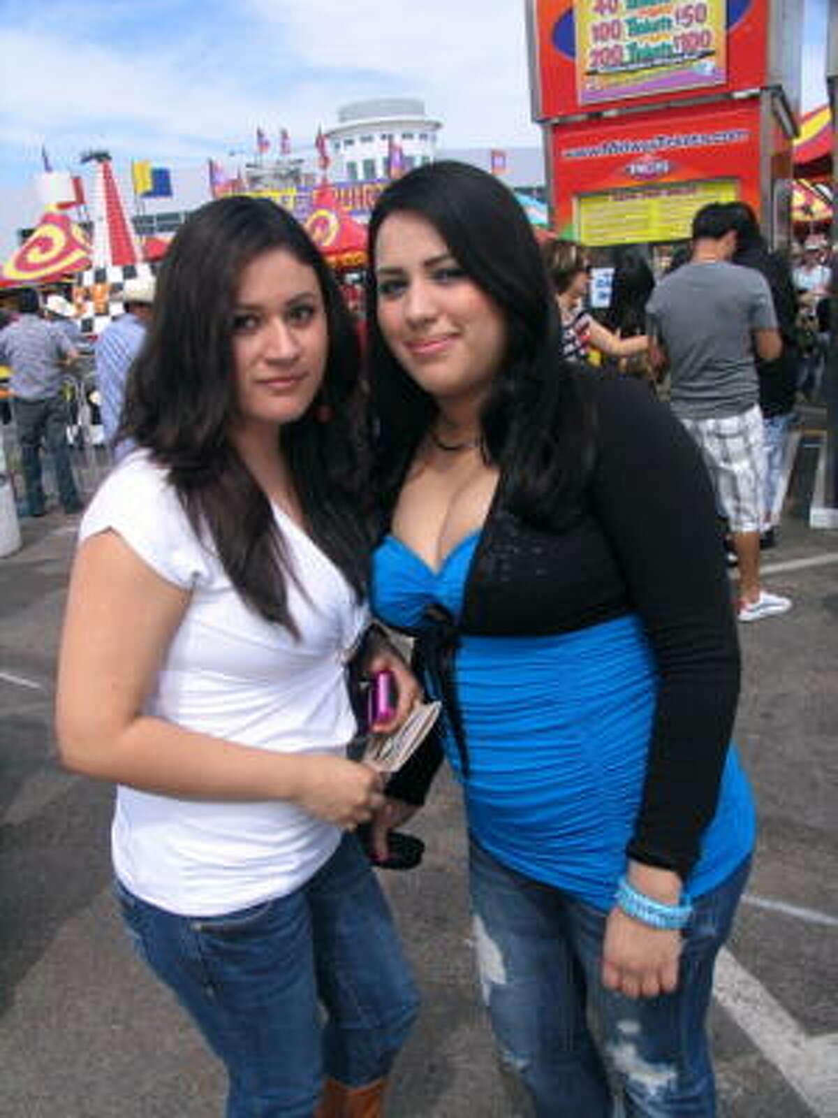 Cynthia Rivera, left, and Rosie Loera