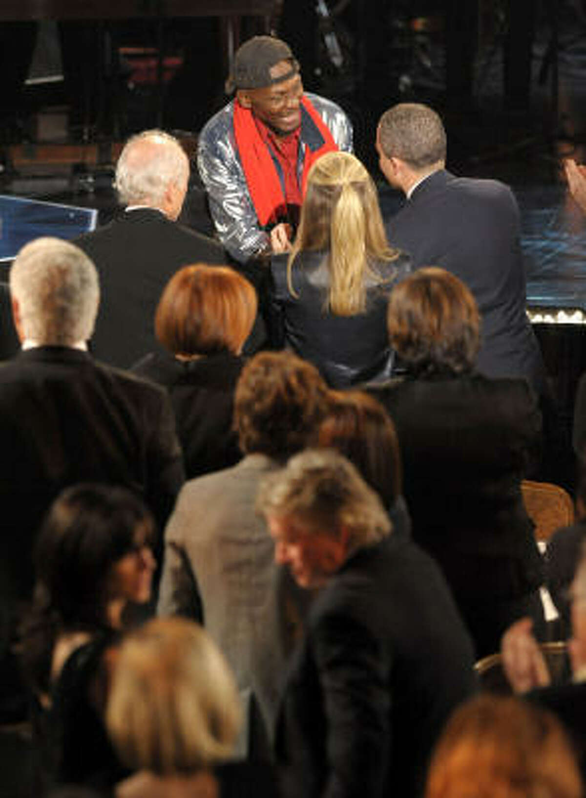 Inductee Jimmy Cliff walks onstage at the 25th Annual Rock And Roll Hall of Fame Induction Ceremony in New York.