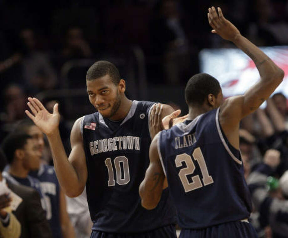 Georgetown  Record: 23-10 Conference: Big East  Photo: Frank Franklin II, AP