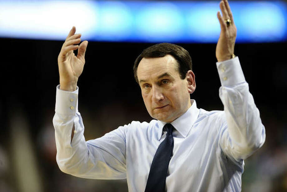 Duke Blue Devils   Seed: 1.  Conference: Atlantic Coast (ACC champion). Record: 29-5.  Coach: Mike Krzyzewski (above). Tournament record: 88-30 (33 years).  Last appearance: 2009.  Leading scorers: Jon Scheyer 18.7; Kyle Singler 17.5; Nolam Smith 17.4.  Leading rebounders: Brian Zoubek 7.3; Kyle Singler 7.0; Miles Plumlee 5.0. Comment: The Blue Devils were the top seed in the ACC tournament for the first time since 2006, when J.J. Redick was the star. After a brief lull, it appears Duke is back on track. Krzyzewski's boys went 17-0 at Cameron Indoor Stadium this season, setting a school record for home wins. Photo: Jeff Zelevansky, Getty Images