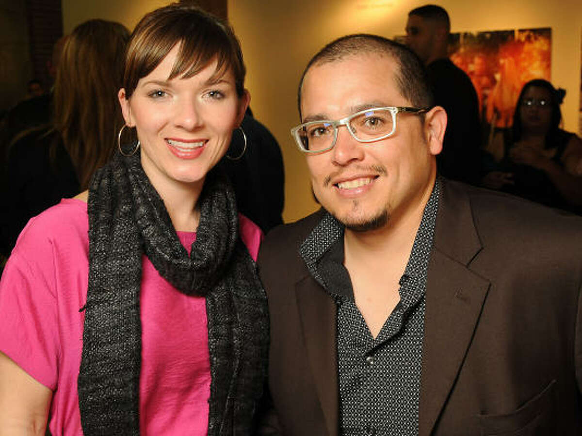 Heather and David Sanchez at the Fotofest 2010 Biennial opening party.