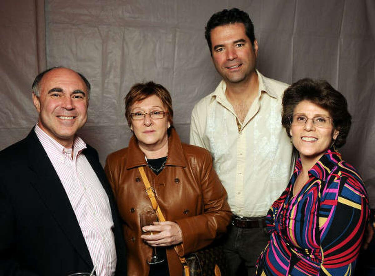 From left: Geoffrey Koslov, Gemma DeSantos, Matt Adams and Barbara Koslov at the Fotofest 2010 Biennial opening party.