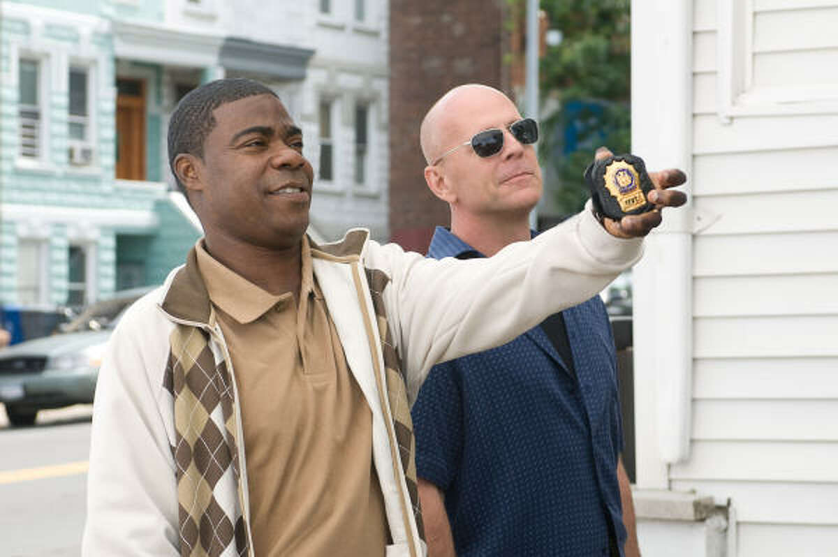 Cop Out , $9.1 million A comedy about a veteran NYPD cop (Bruce Willis) whose rare baseball card is stolen. Since it's his only hope to pay for his daughter's upcoming wedding, he recruits his partner (Tracy Morgan) to track down the thief, a memorabilia-obsessed gangster (Seann William Scott)