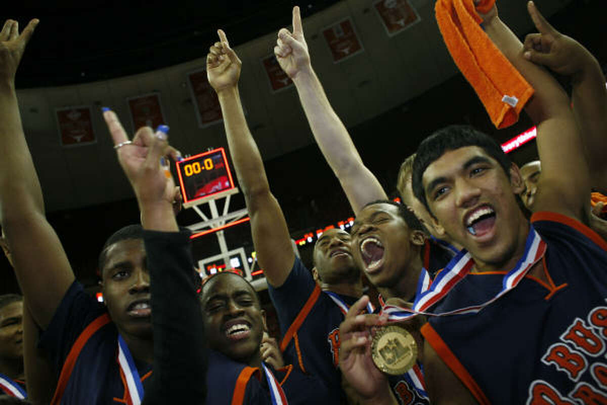 Bush defeated Garland Lakeview Centennial 65-58 in the Class 5A state championship game Saturday in Austin.