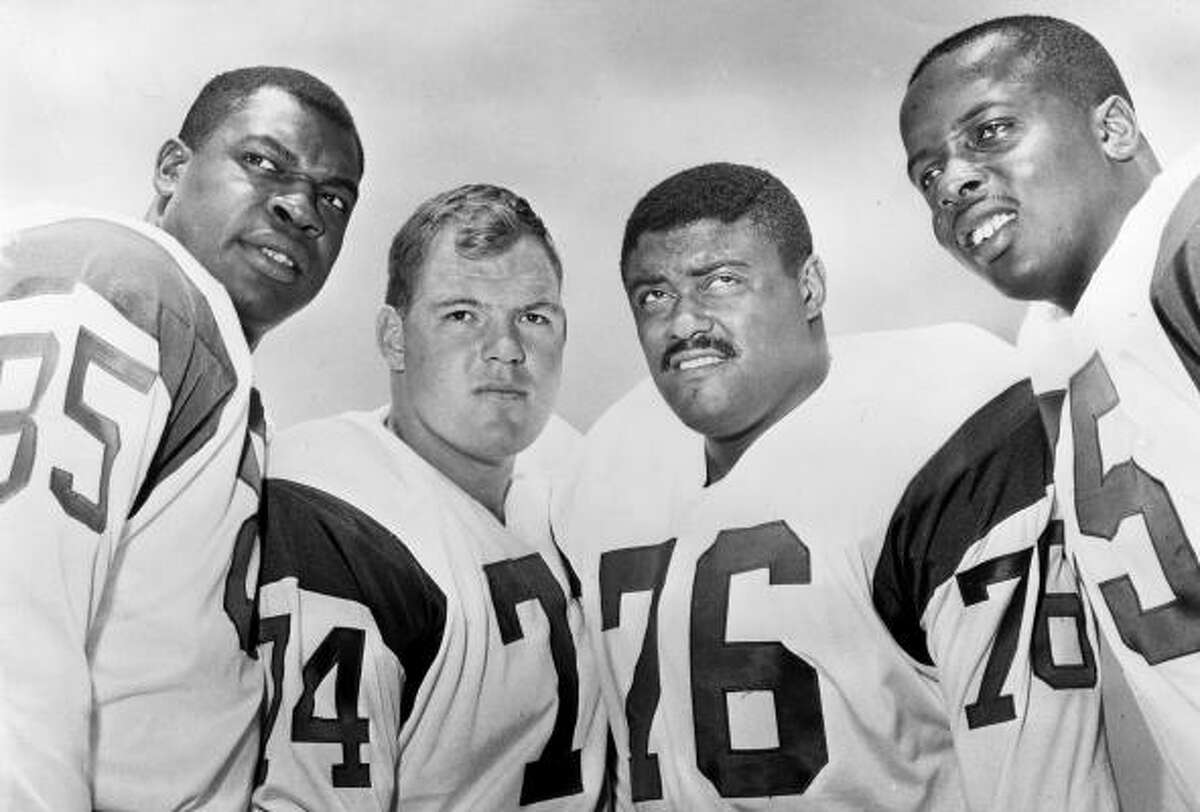 The Los Angeles Rams' defensive front four, known as the