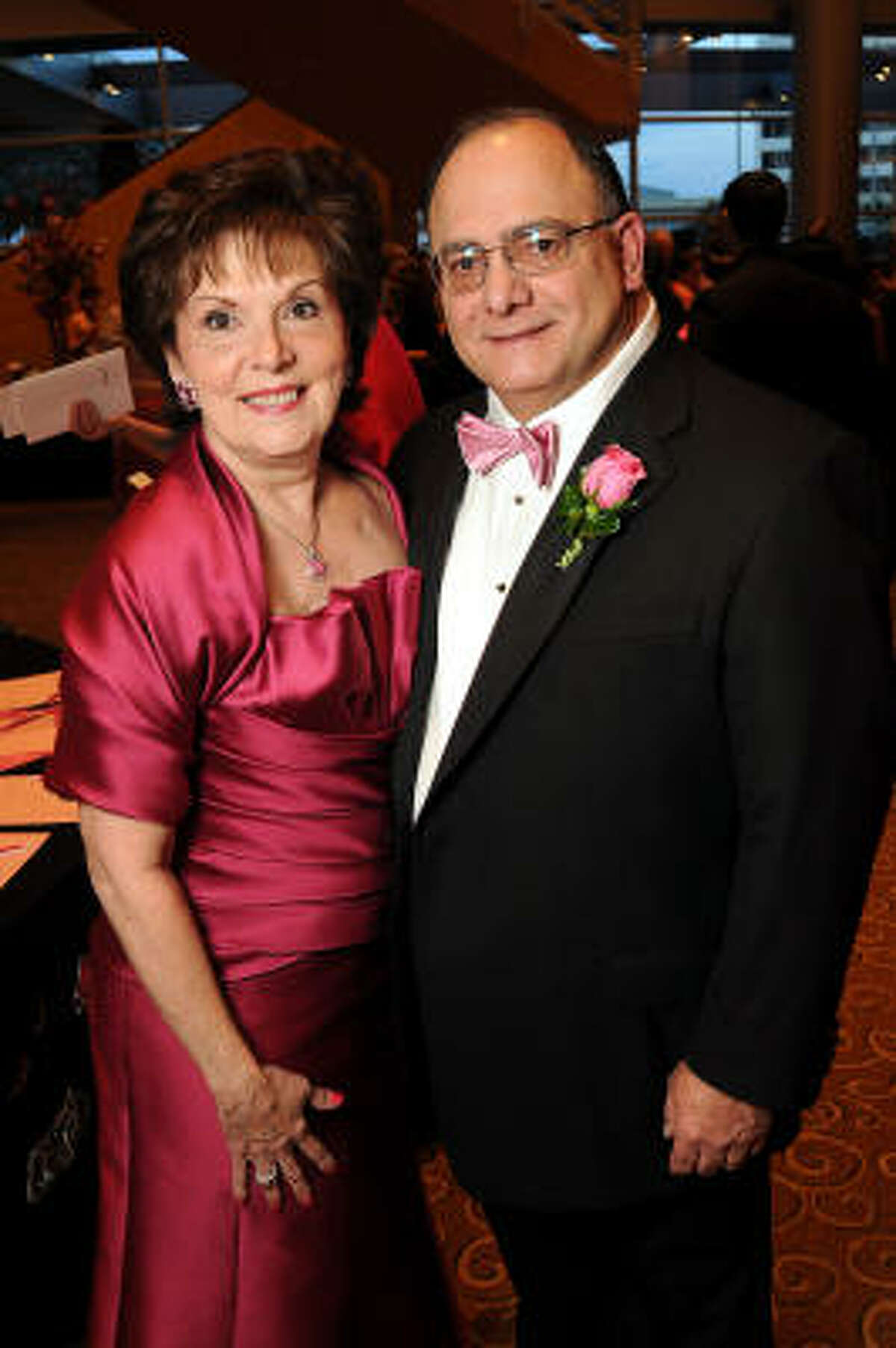 Ann and Clarence Cazalot at the 2010 Pink Tie Gala at the InterContinental Hotel.