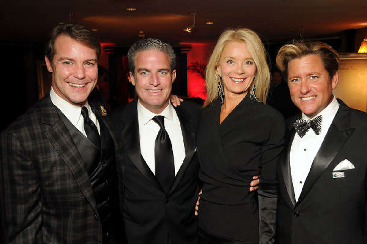 From left: Paul-David Van Atta, Tyson Faust, Tena Faust and Brian Teichman at the Partnership for Baylor College of Medicine's 2010 Gala at the Hotel ZaZa.