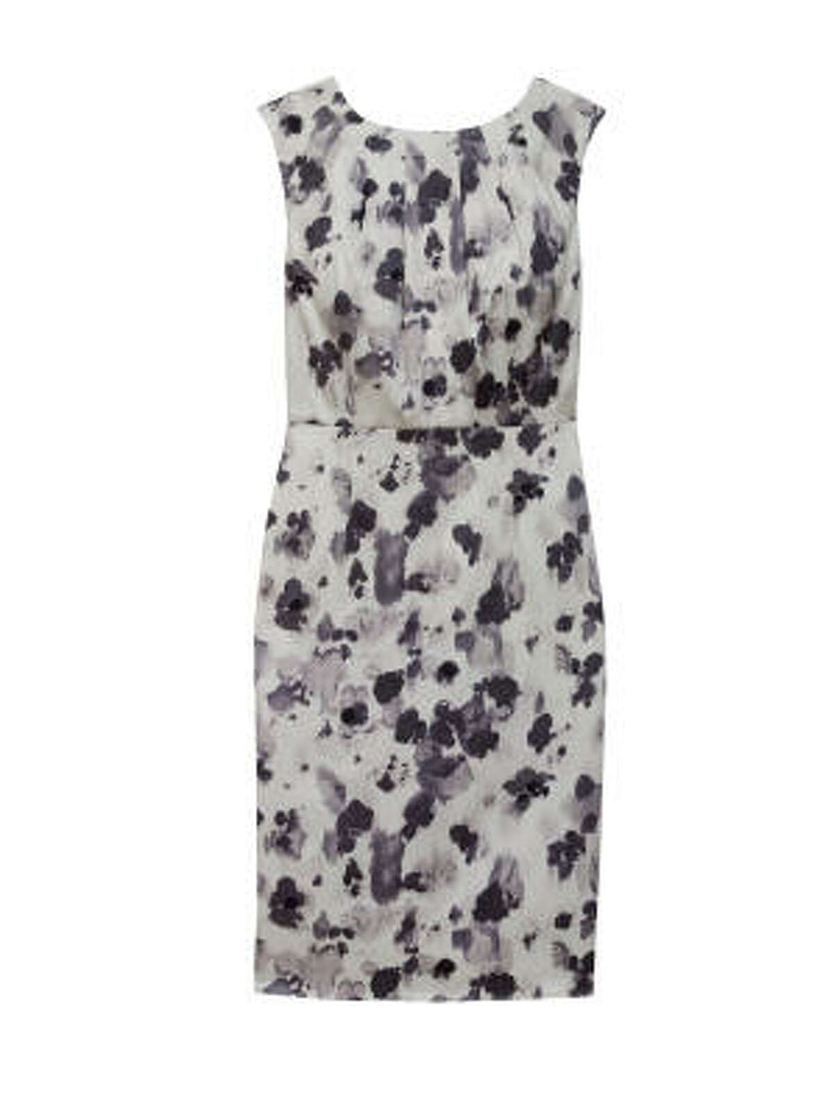 Silk Flower Animal Print Sheath Dress, $158, available in sizes up to 14 at Ann Taylor stores and up to size 18 online at anntaylor.com