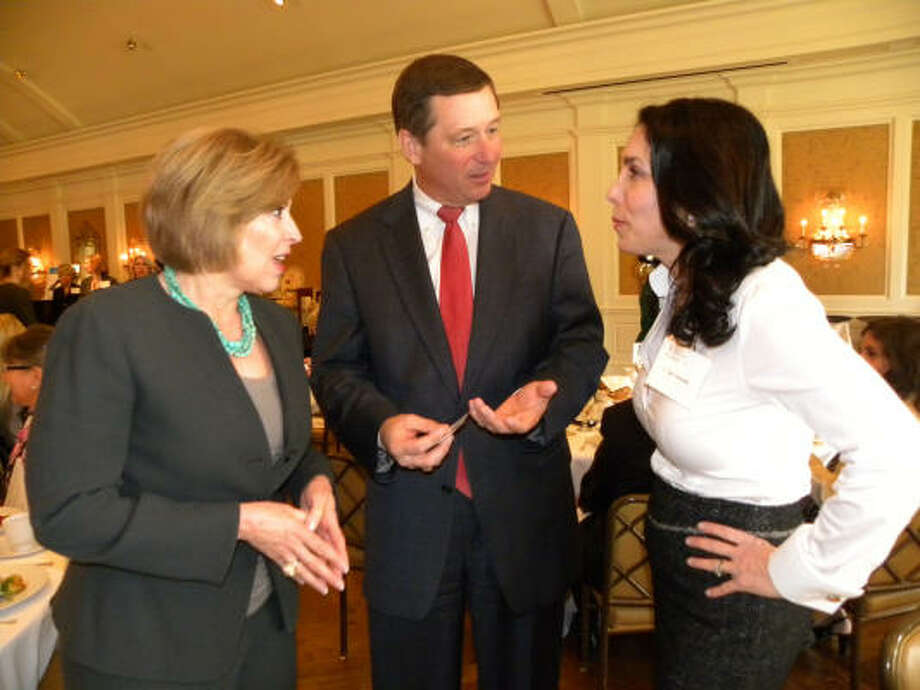 "Doe Florsheim, David Wuthrich and Melissa Brunicardi at a Partnership for Baylor College of Medicine educational luncheon: ""Stem Cells ... Fountain of Youth?"" Photo: Douglas Britt, Chronicle"