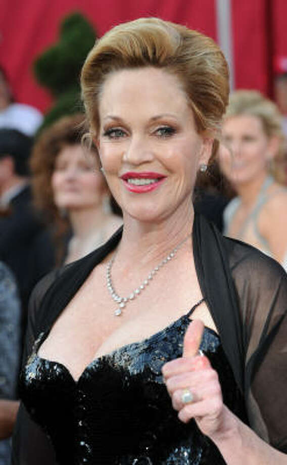 Melanie Griffith has had so much plastic surgery she has transformed into a Jane Fonda lookalike. Photo: MARK RALSTON, AFP/Getty Images