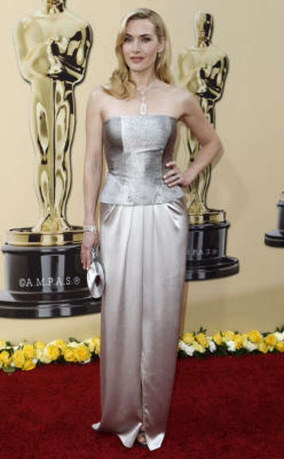 Kate Winslet is usually stunning on the red carpet. This is one of her weaker choices. Photo: Matt Sayles, AP