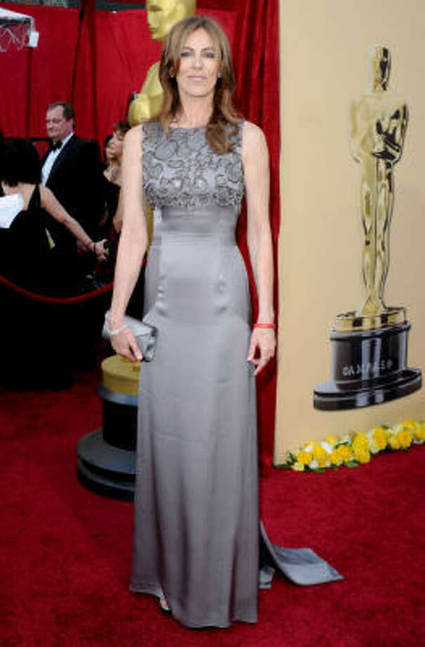 "FITTED: Nominee for Best Director Kathryn Bigelow for ""The Hurt Locker looked a little snug in this brown gown. Photo: Jason Merritt, Getty Images"
