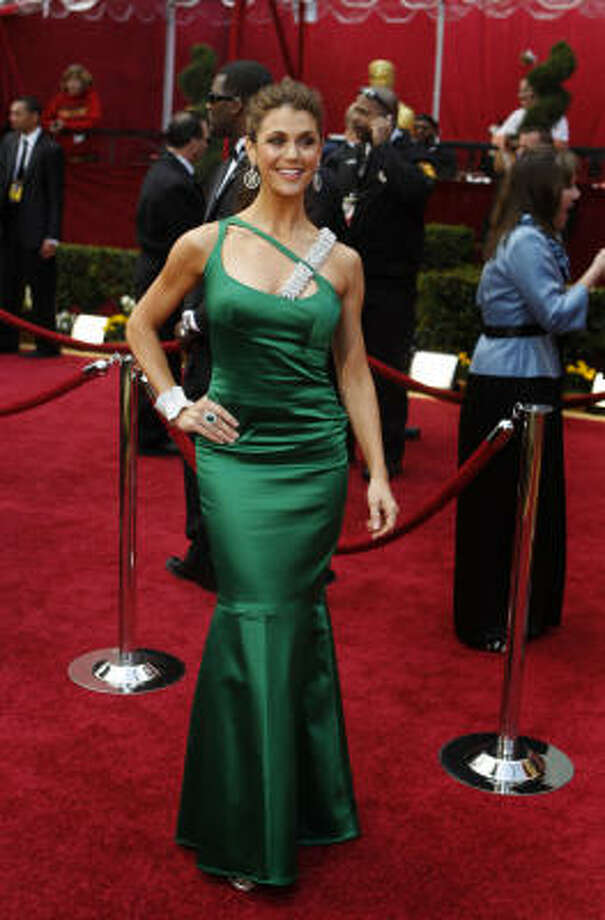 SEEING GREEN: Samantha Harris looks like she's getting ready for St. Patrick's day early. Photo: Jay L. Clendenin, MCT