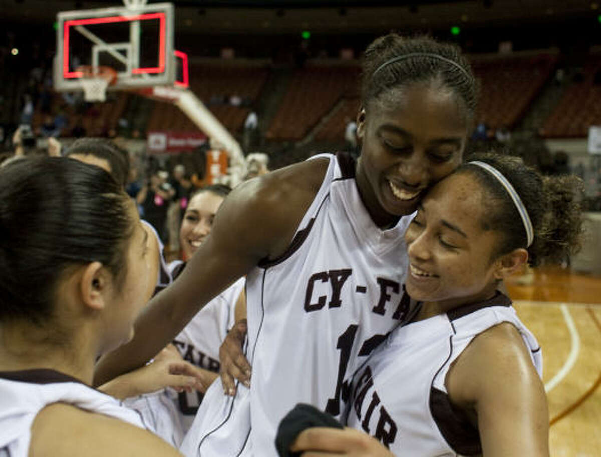March 6: Cy-Fair 65, Hightower 41 Chiney Ogwumike, center, had 31 points, 18 rebounds and seven steals to lead Cy-Fair to a win over Hightower in Saturday's Class 5A state championship game in Austin.