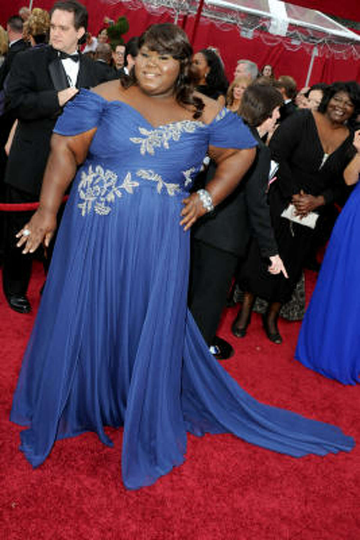 Actress Gabourey Sidibe arrives at the 82nd Annual Academy Awards.
