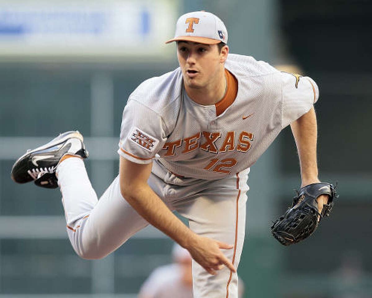 Texas pitcher Brandon Workman went the distance, allowing only one run while striking out seven batters in eight innings, but he received no offensive support.