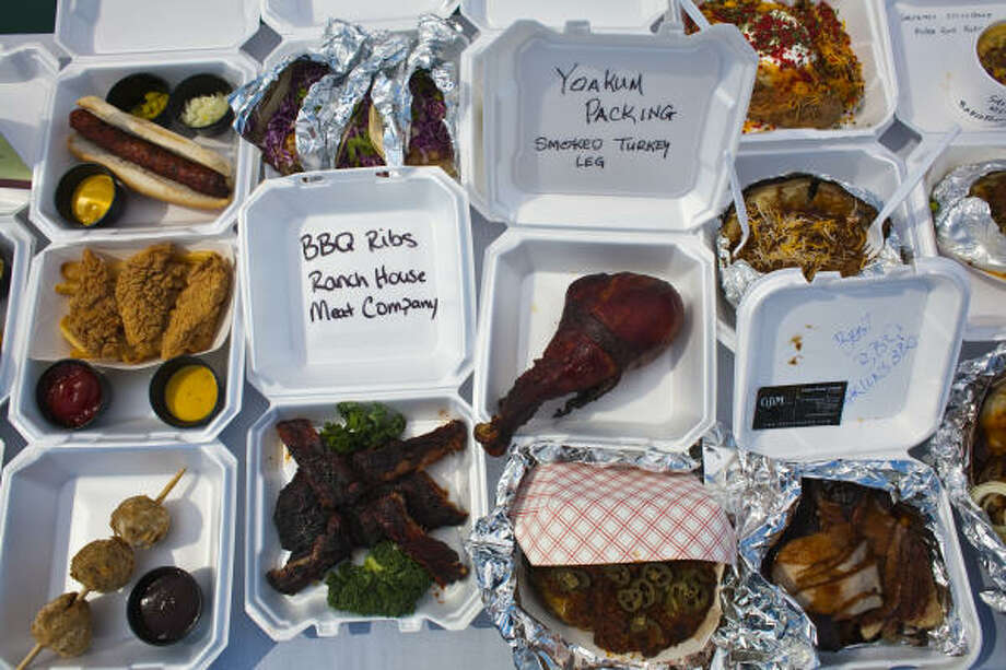 The Rodeo is famous as a place for sampling unusual foods. Photo: Eric Kayne, For The Chronicle