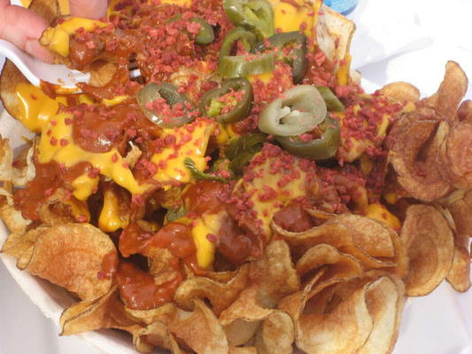 Nachos made from hand-cooked potato chips Photo: Greg Morago, Chronicle