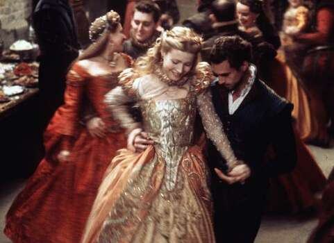 """Shakespeare in Love"" - Young playwright William Shakespeare meets and falls in in love with his muse.Best PictureBest Actress (Gwyneth Paltrow)Best Supporting Actress (Judi Dench)Best Original ScreenplayBest Art DirectionBest Costume DesignBest Score Related: Full list of nominees for the 86th Academy Awards Photo: LAURIE SPARHAM, AP"