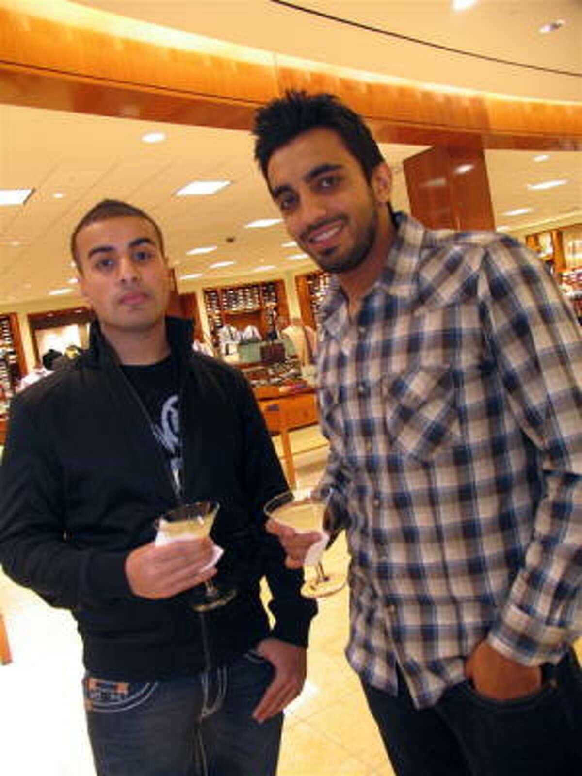Shobi Awan, left, and Nawaf Gheewala
