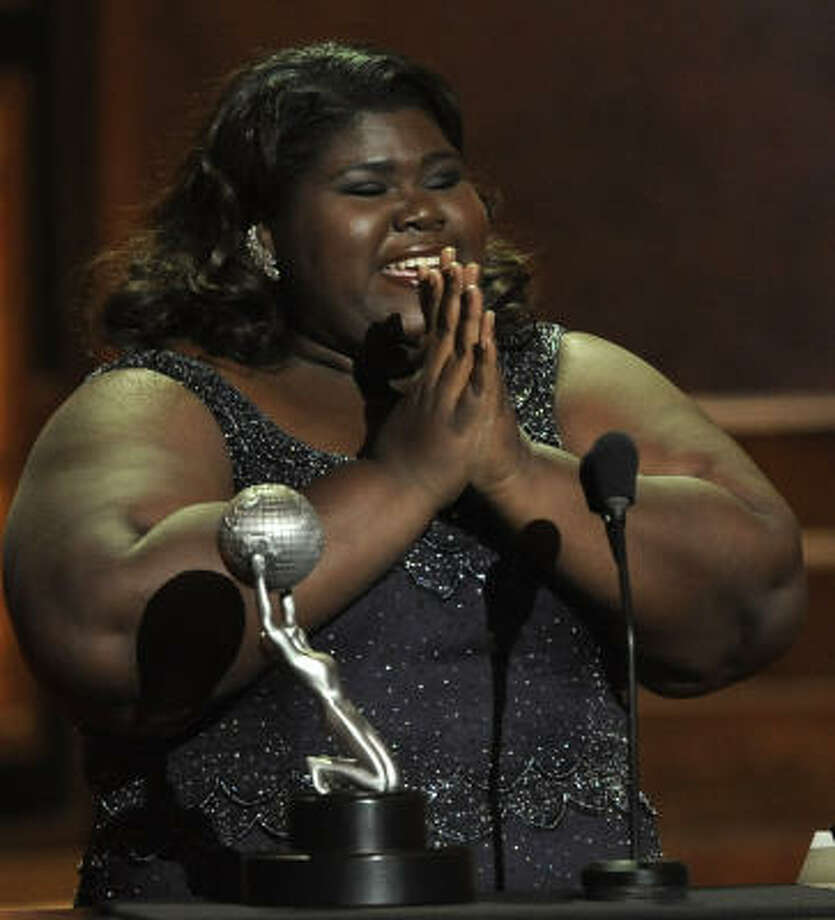 Oscar nominee Gabourey Sidibe (Precious) has received a lot of attention because of her weight. A recent Vanity Fair cover on young Hollywood's 'Fresh Faces of 2010' neglected to put her on the cover, though she may have had the biggest breakout story of all. For her part, Sidibe said it didn't matter to her. Photo: Chris Pizzello, AP