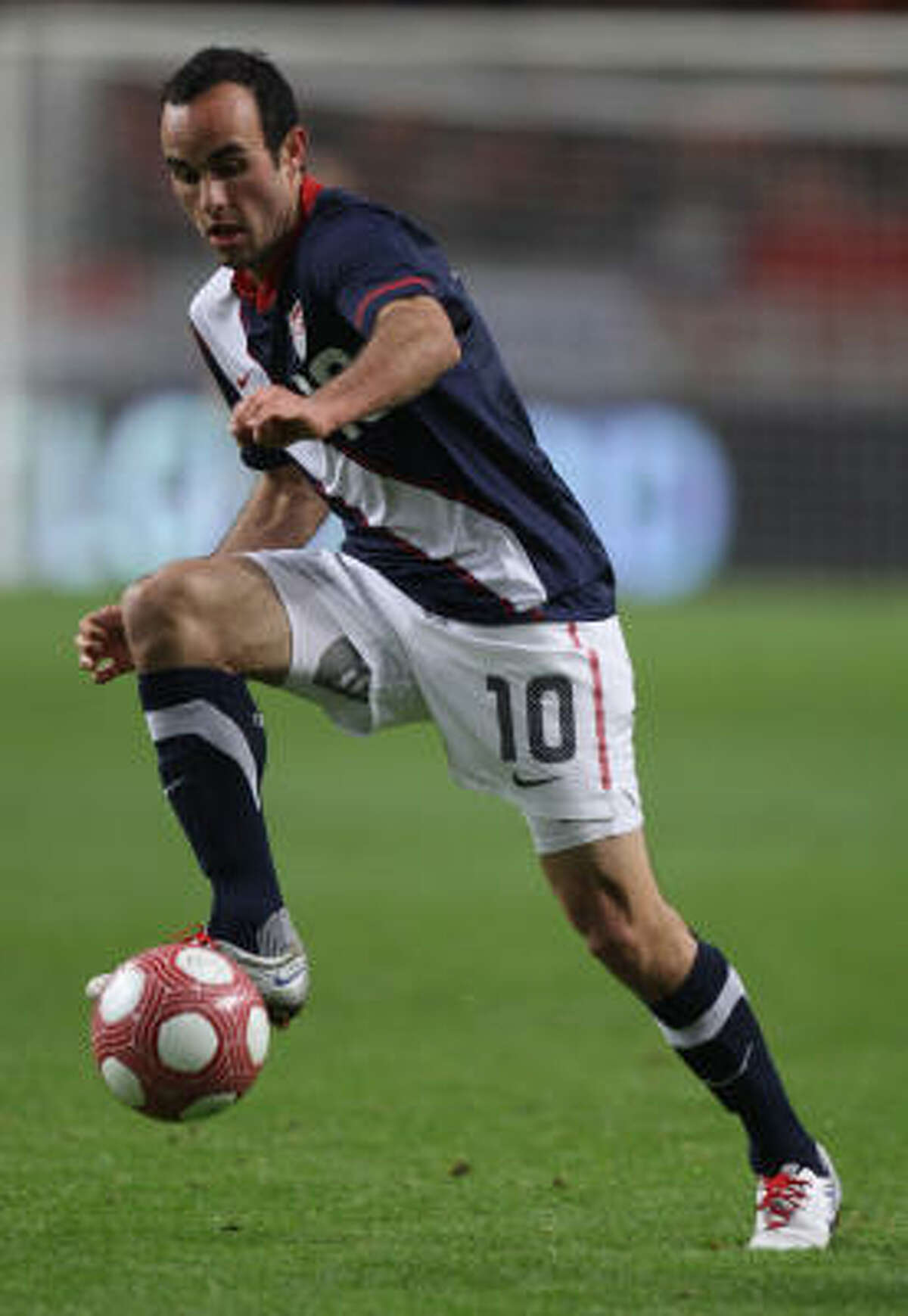 Landon Donovan of USA in action during the international friendly between Netherlands and the United States.