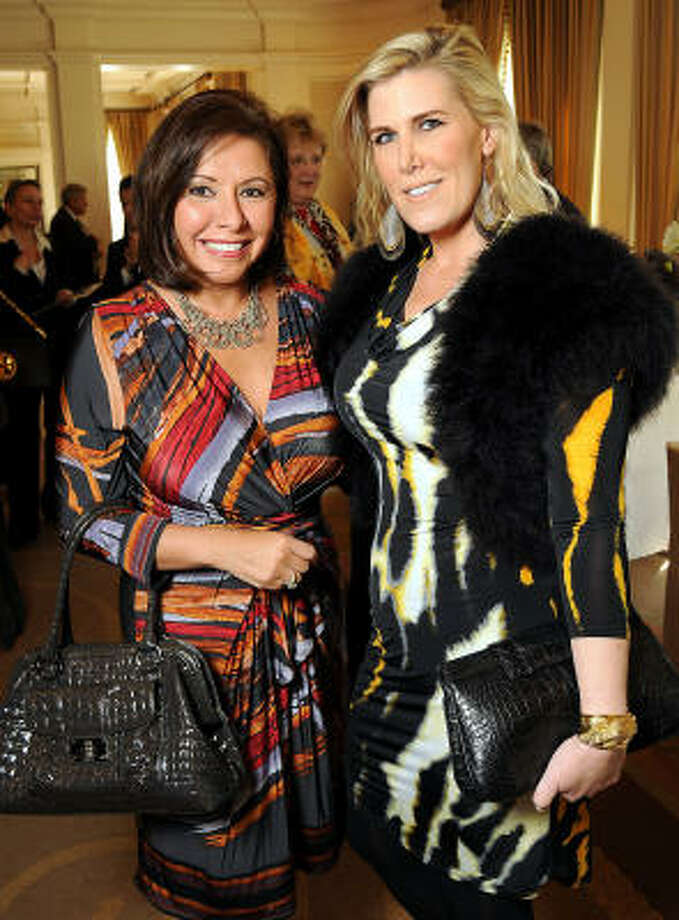 Debbie Festari and Courtney Hopson at the 15th Annual Celebration of Families Luncheon benefiting Family Services of Greater Houston at the River Oaks Country Club. Photo: Dave Rossman, For The Chronicle
